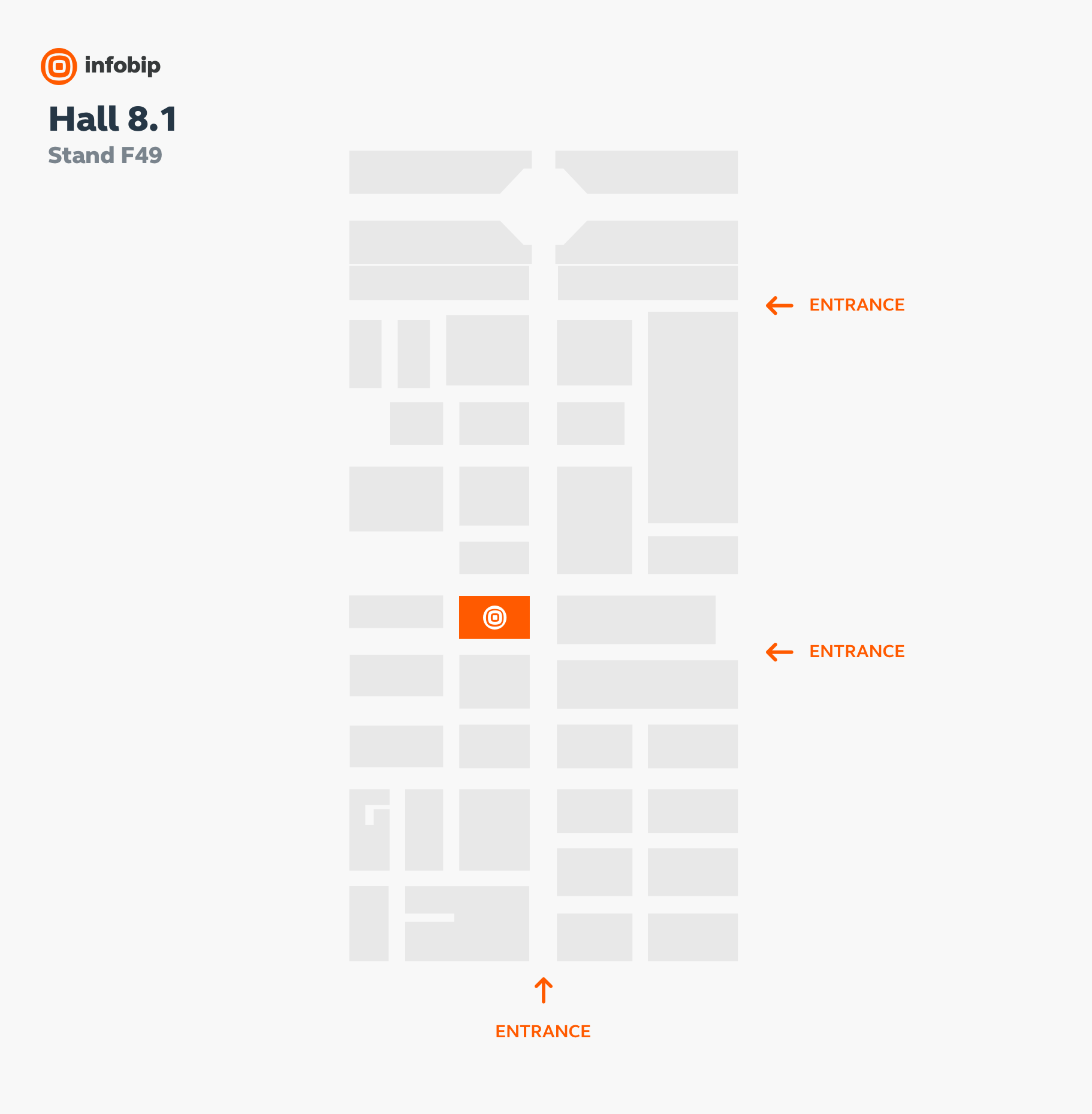 infobip stand location map